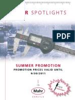 TC Mahr Spotlights Summer Promotion 2011