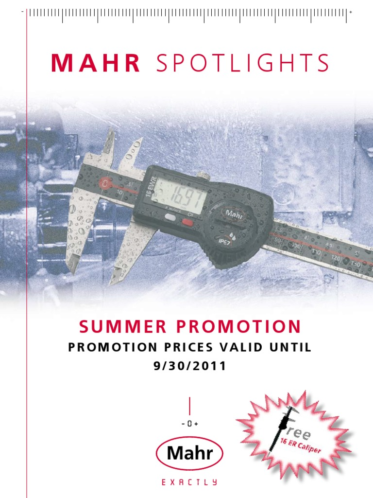 TC Mahr Spotlights Summer Promotion 2011 | Calibration