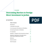 Overcoming Barriers to Foreign Direct Investment in Jordan
