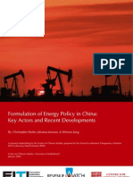 Formulation of Energy Policy in China