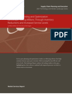 AMR Research REPORT 20939-Service Parts Planning and Optimization