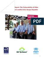The vulnerability of older people in Osh, Kyrgyzstan