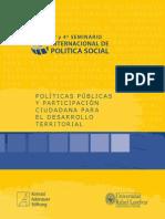 Tercer y cuarto seminario internacional de política social