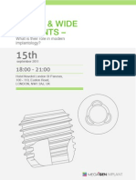Short&Wide Implants Seminar