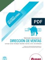 Tríptico Diplomado Internacional en Dirección de Ventas