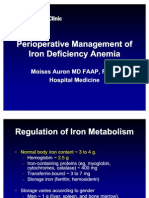 Preoperative Use of Parenteral Iron
