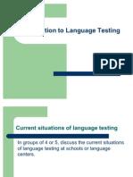 Introduction to Language Testing