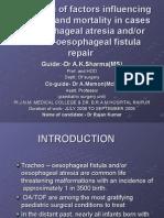 tracheo-oesophageal fistula