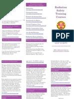 Radiation Training Brochure