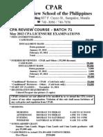 Cpar Batch 71 May 2012 Cpa Exam (1)