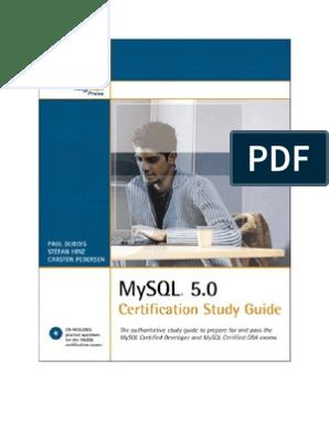MySQL 5 Certification Study Guide | My Sql | Sql