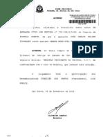 acórdão, registro de nome em cartório