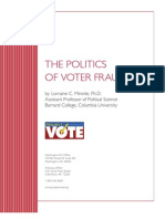 Politics of Voter Fraud Final