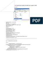 Características de la Tarjeta de sonido Portátil Acer aspire 3690