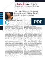 Diversity Journal   Don't Let News of Increasing Discrimination Claims Derail Your Diversity Initiative - May/June 2011