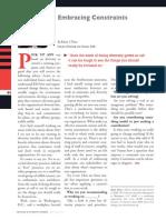Diversity Journal | Embracing Constraints - May/June 2011