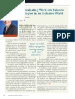 Diversity Journal   Re-evaluating Work/Life Balance Strategies - May/June 2011