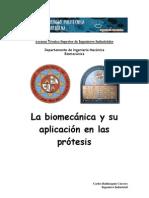 La biomecánica y su aplicación en las prótesis
