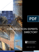 BHA Construction Experts Directory, Fee Schedule