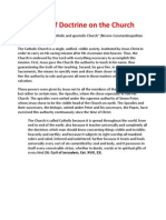 Summary of Doctrine on the Church