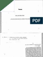 Deleuze - En qué se reconoce el estructuralismo