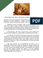 Consejos de Don Quijote a Sancho Panza - Liderazgo