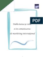 Ebook Publicitatea şi rolul ei în comunicarea de marketing internaţional
