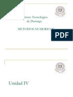 Unidad IV Metodos Numericos