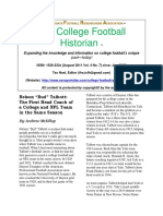 IFRA College Football Historian - August 7, 2011 Vol. 4, No. 7