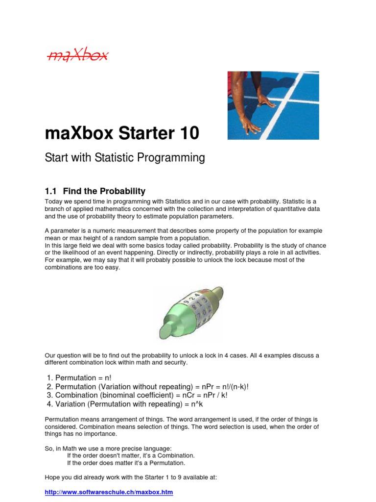 maxbox_starter10 | Determinism | Probability Theory