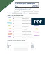 teste gramatica 13 junho