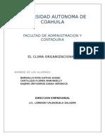 Clima Organizacional Mirador Matriz