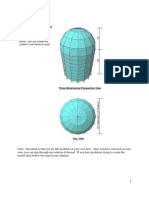 Modelización de Un Cilindro Con Un Domo