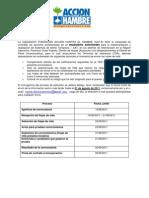 TDR Ing Agronomo Acción Contra el Hambre
