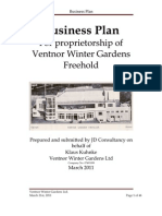 Ventnor Winter Gardens Ltd - Proposal