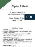 IBCSpanTables NapaS