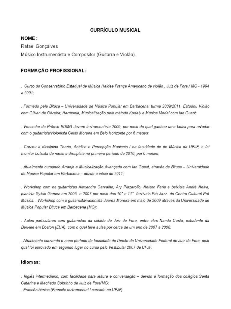 Excelente Ejemplo De Currículum Teatral Modelo - Colección De ...
