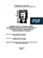 Normas para la Calificación e Interpretación Rorschach