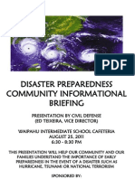 Reps Aquino and Cullen Hold Disaster Preparedness Meeting