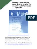 Guía de estudio para análisis económico por Jerome Lavelle Ted G Eschenbach Donald Newnan de ingeniería - Averigüe por qué me encanta!