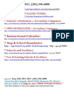 TEXAS -Katy ISD - School Info 2011 2012