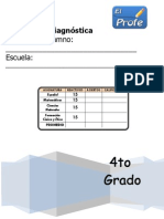 4to Grado - Diagnóstico