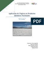 LITIO Producto Quimico Nacional