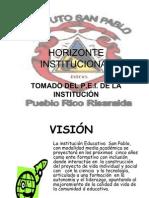 Horizonte Institucinal San Pablo