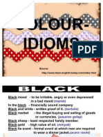PMR ENGLISH Colour Idioms