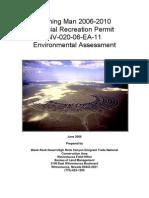 Burning Man 2006-2010 Special Recreation Permit NV-020-06-EA-11 Environmental Assessment