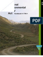 Bureau of Land Management National Environmental Policy Act Handbook H-1790-1