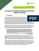 Crying Wolf Eu Lobbying Climate Change Media Briefing 231110