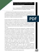 Situacion de los DDHH en América Latina - Violencia en Democracia-Venezuela y Colombia