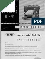 Pfaff 360 261 Manual
